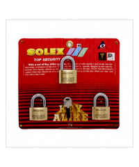 SOLEX KEY ALIKE 3:1 MACH II L 45 MM ทองเหลือง